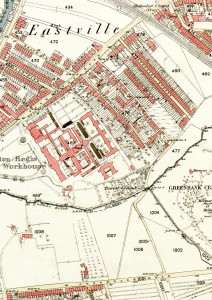 Eastville Workhouse map 1880