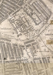 Eastville Workhouse map 1900
