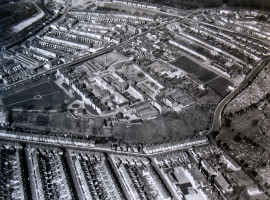 Eastville from the air in 1967