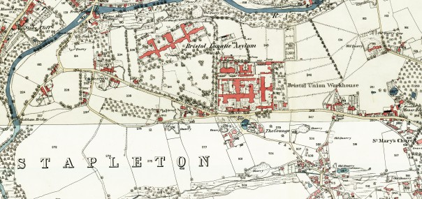 A map of Stapleton Workhouse and Asylum from 1880.