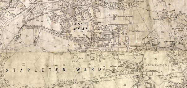 A map of Stapleton Workhouse and Asylum from 1900.