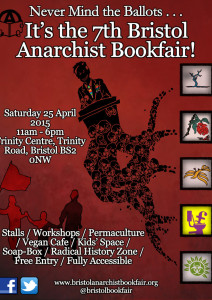 Bristol Anarchist Bookfair 2015 Poster