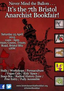Bristol Anarchist Bookfair 2015 Poster