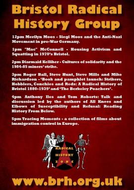 Radical History Zone 2015 Flyer Back