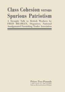 Class Cohesion versus Spurious Patriotism Poster