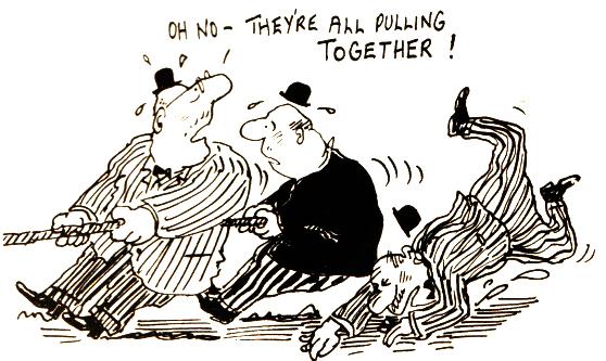 Builders Strike Cartoon