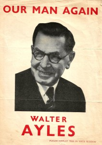 Walter Ayles 1951 Election Poster