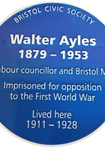 Walter Ayles Blue Plaque 12 Sation Road Ashley Down Bristol