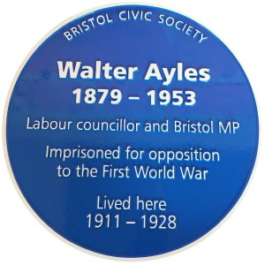 Walter Ayles Blue Plaque 12 Sation Road Ashley DownBristol