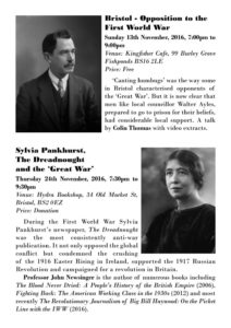 Resisting the War Programme Page 1
