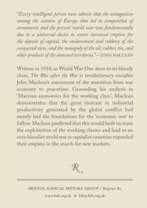 The War after the War Back Cover