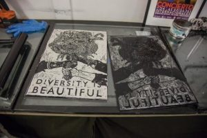 Inked plates for poster making