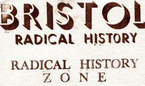 Bristol Radical History - example of letterpress fonts by Dennis Gould