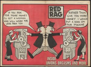 The covers of Red Rag No3, 1975.