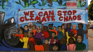 We can stop climate chaos mural