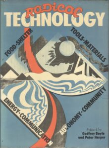 Front cover of Radical Technology book designed by Roger Hall