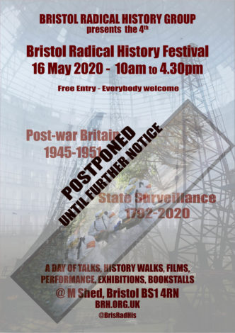 Bristol Radical History Festival [Postponed until 2021] Poster