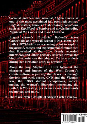 Angela Carter's 'Provincial Bohemia' Back Cover