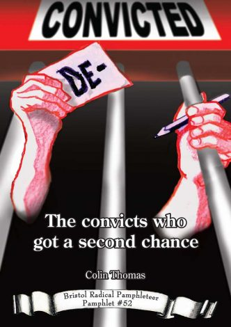 De-Convicted cover - man's hands holding prison cell bars and a pencil